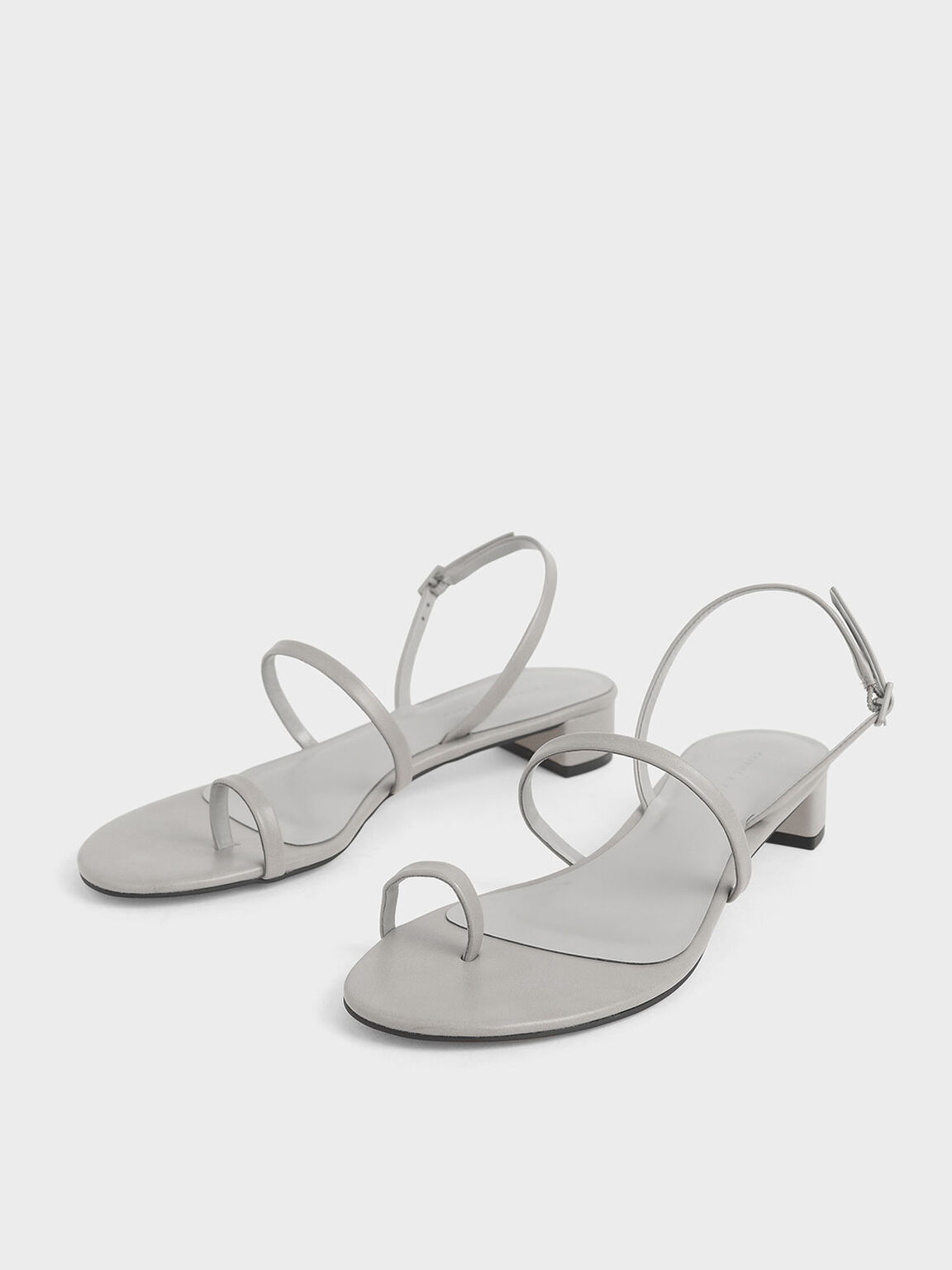 Toe Loop Sandals, Light Grey, hi-res