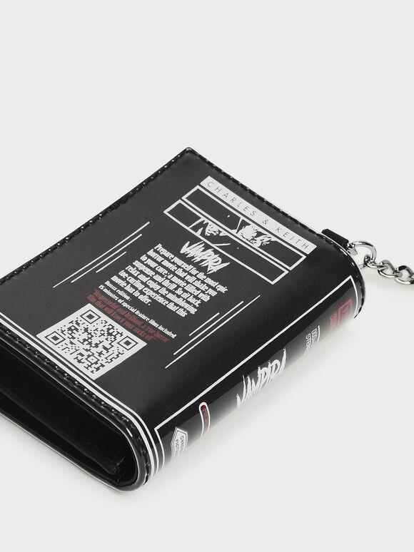 Printed Card Holder, Black, hi-res