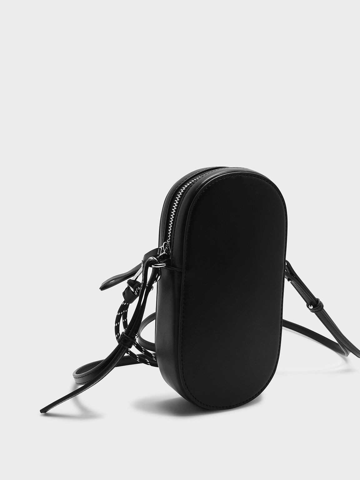 Rope Detail Crossbody Bag, Black, hi-res
