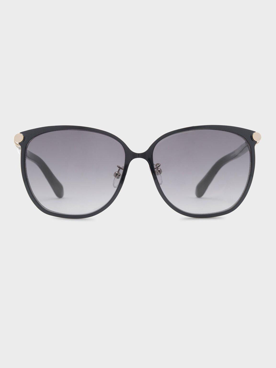 Oversized Sunglasses, Black, hi-res