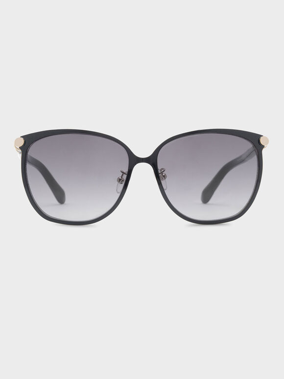 Oversized Sunglasses, Black, hi-res