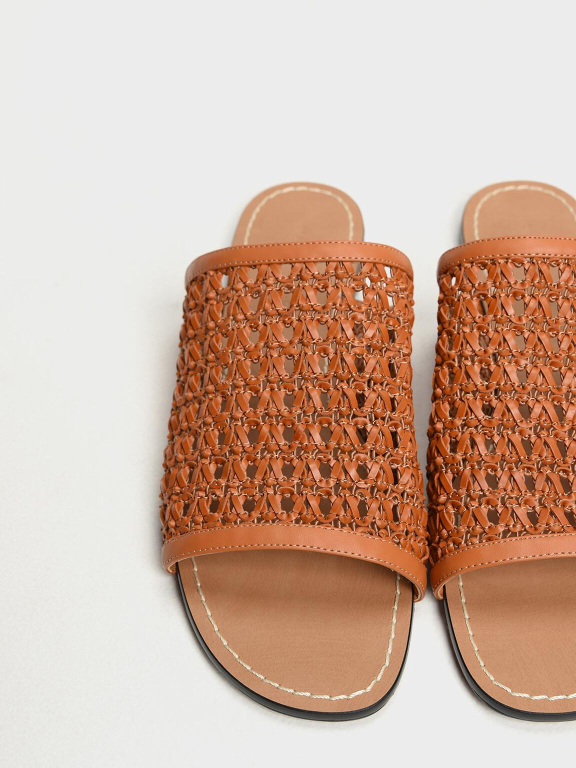 Woven Sliders, Orange, hi-res