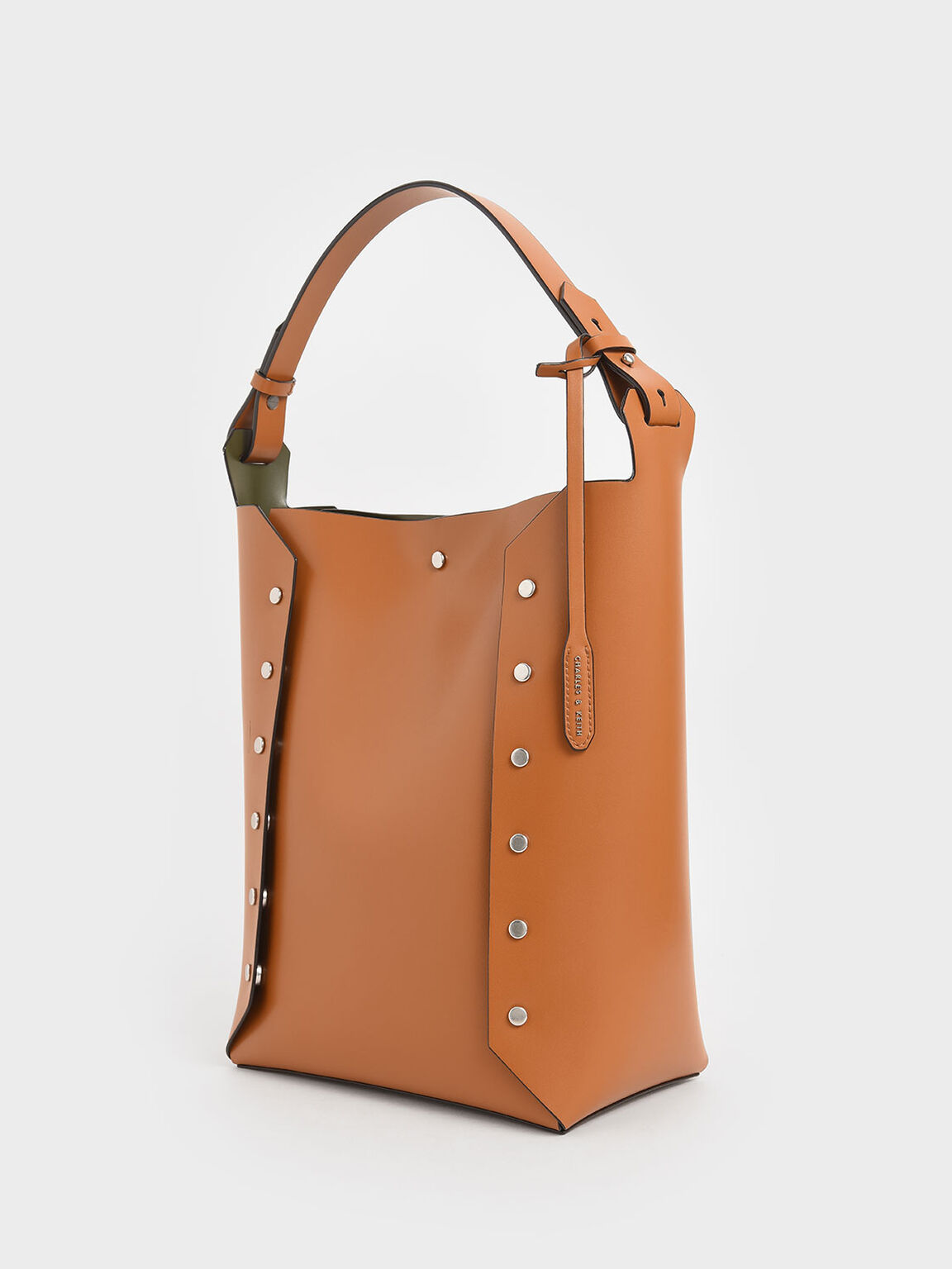 Large Reversible Studded Tote Bag, Tan, hi-res