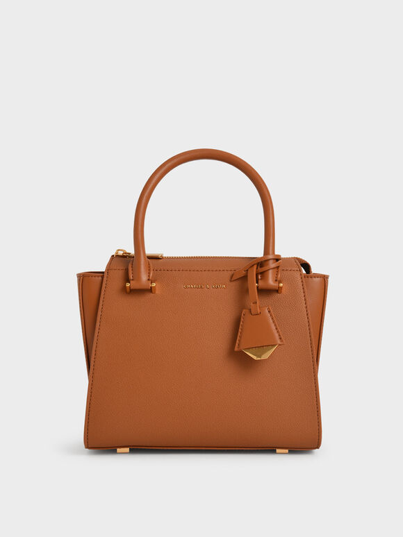 Molly Chiang Collection: Trapeze Tote, Cognac, hi-res