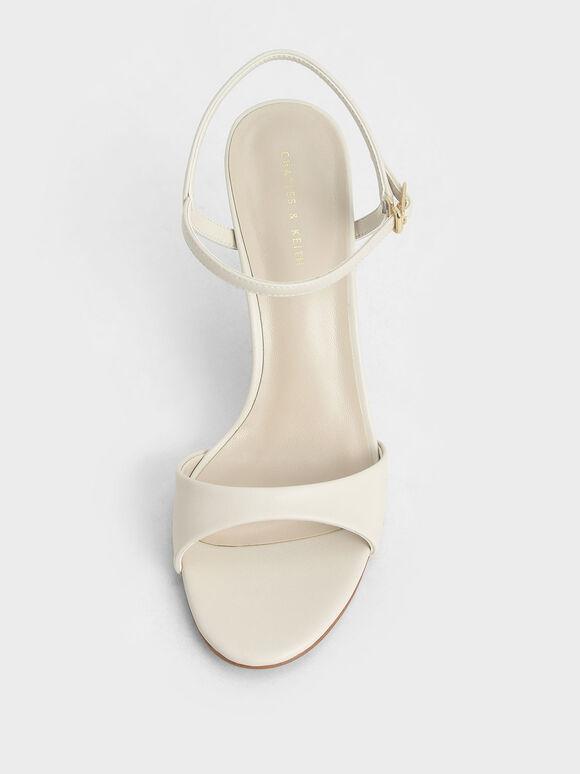 Ankle Strap Stiletto Sandals, Chalk, hi-res