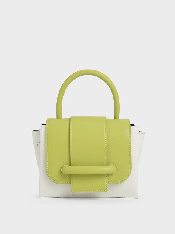 Chain Strap Mini Bag, Lime, hi-res
