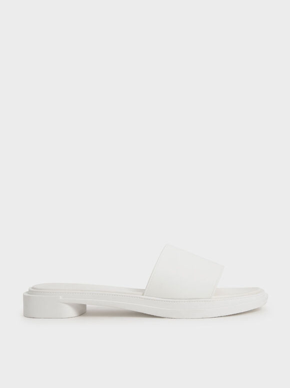 Slide Sandals, White, hi-res