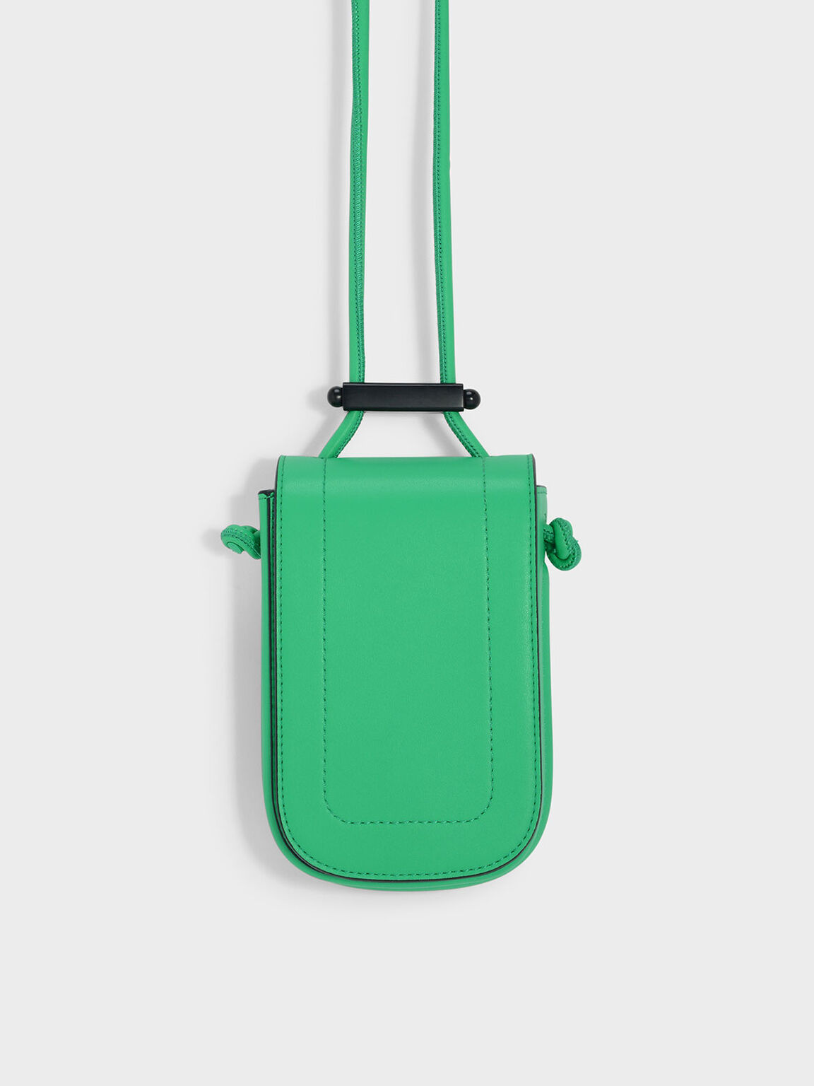 Drawstring Detail Slingbag, Green, hi-res
