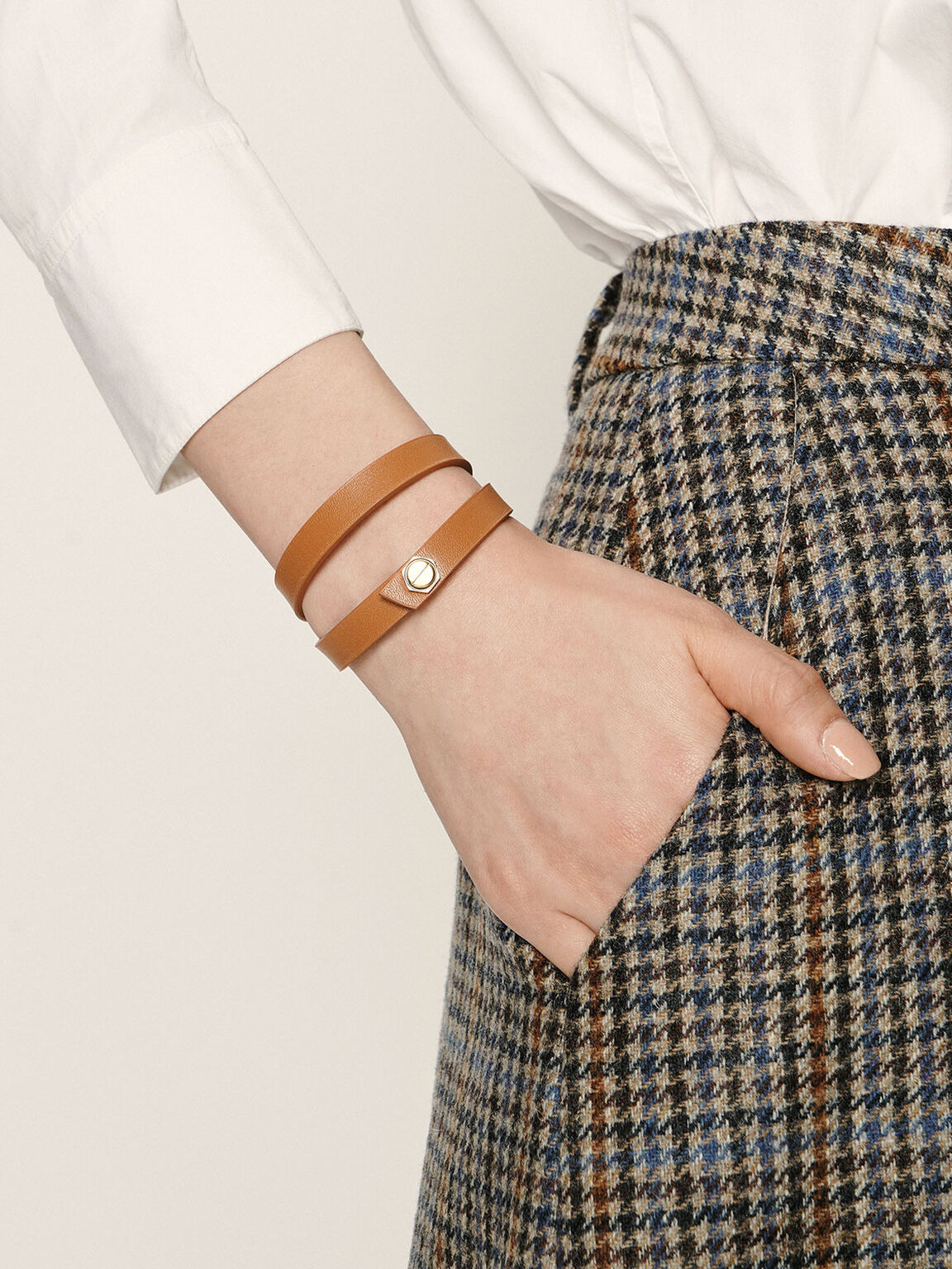 Wrap Around Bracelet, Cognac, hi-res