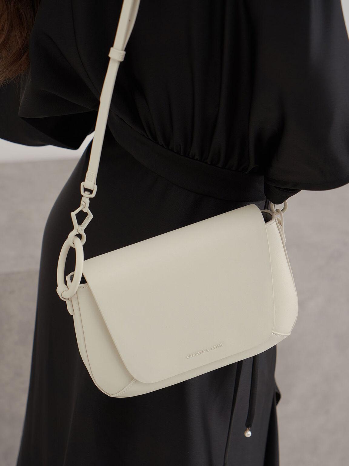 Front Flap Crossbody Bag, Chalk, hi-res