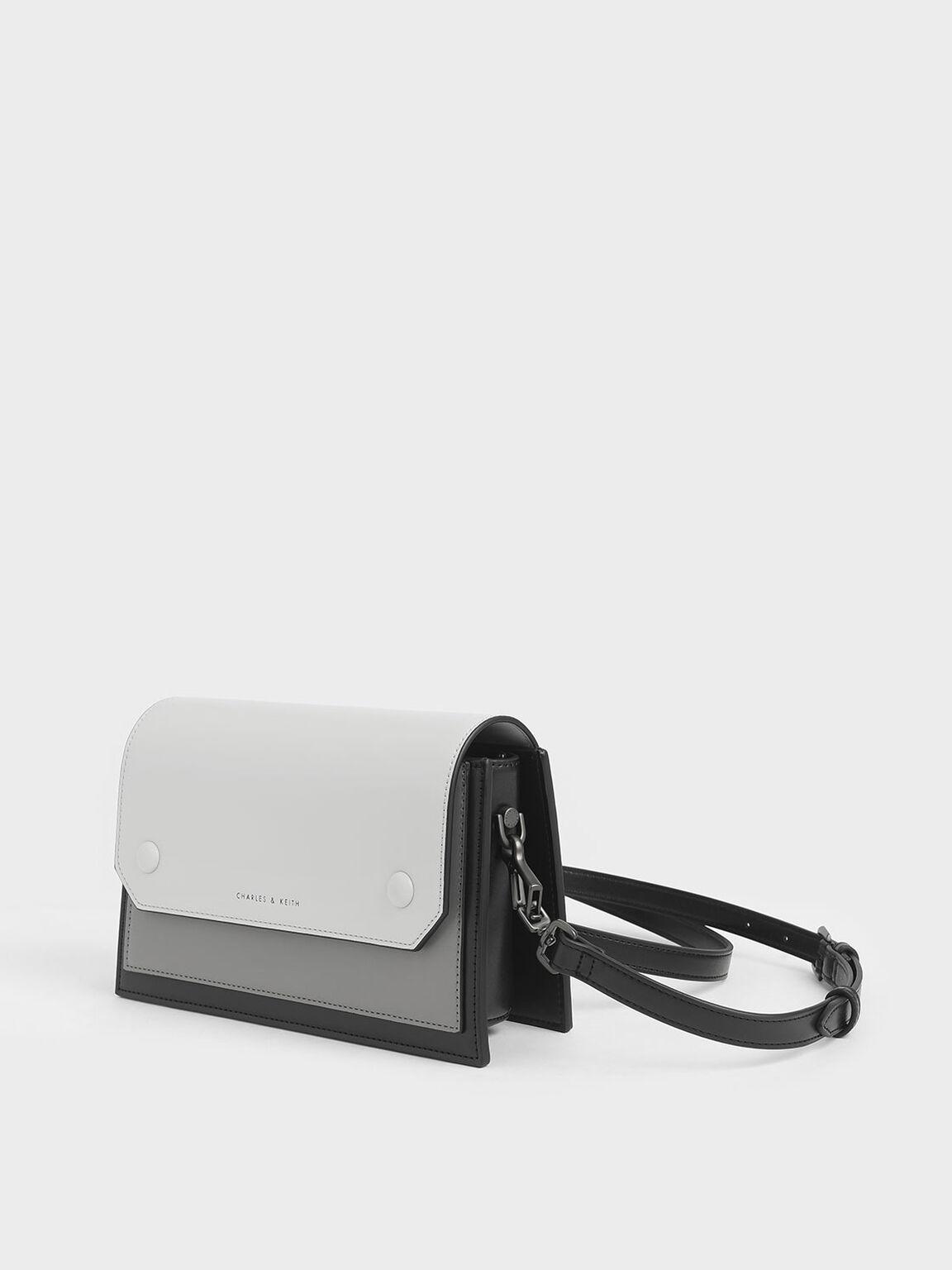 Two-Tone Mini Clutch Bag, Black, hi-res