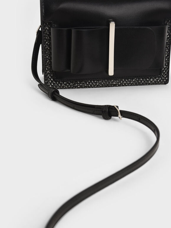 Bow Top Handle Bag, Multi, hi-res