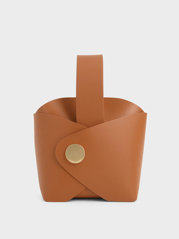 Mini Bucket Bag, Tan, hi-res