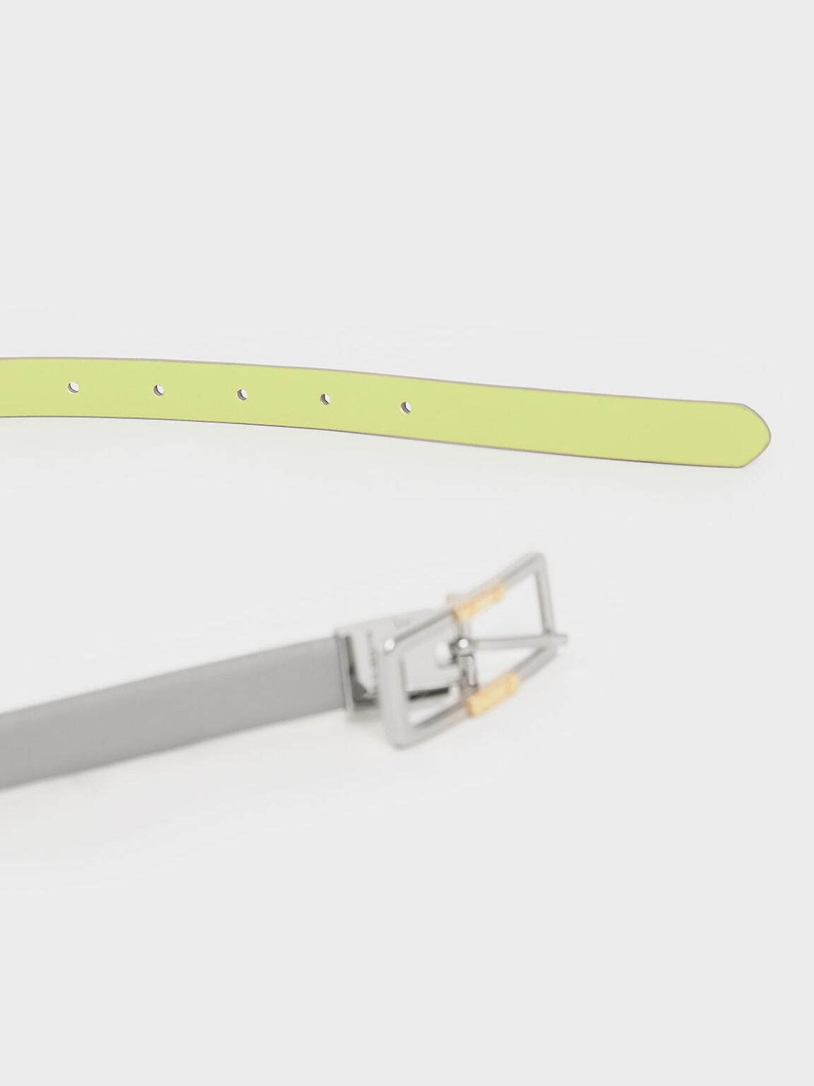 Reversible Low Waist Belt, Light Grey, hi-res