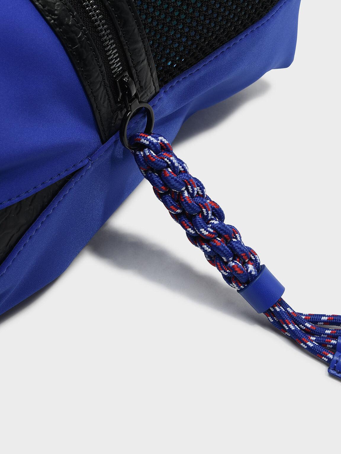 網狀托特包, 藍色, hi-res