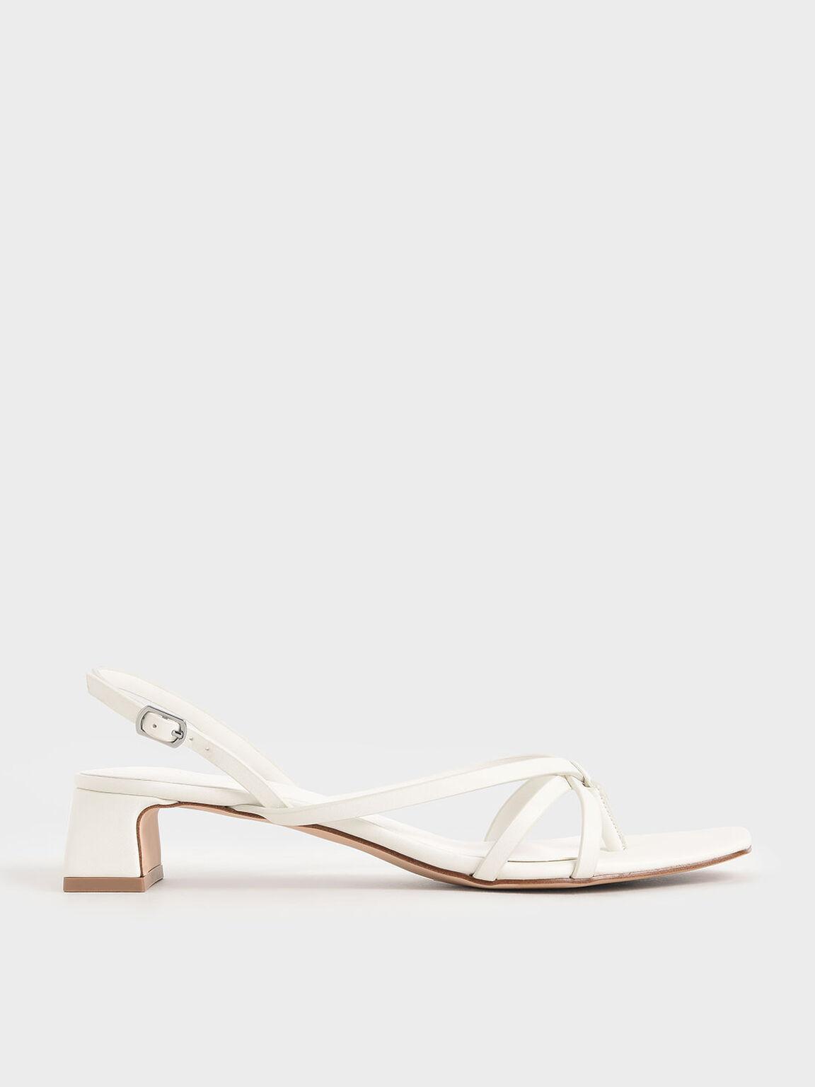 Strappy Sandals, White, hi-res