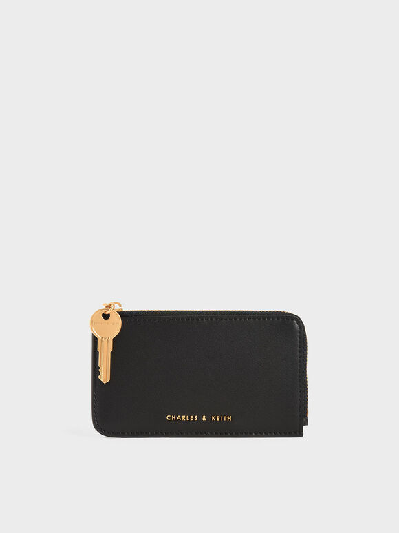 Zip Around Mini Wallet, Black, hi-res