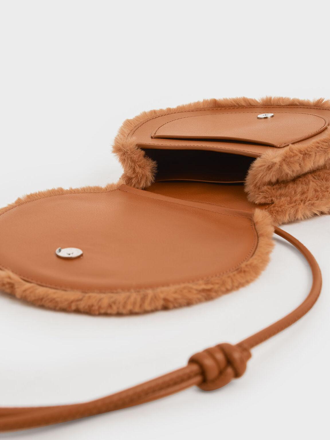 Textured Mini Crossbody Bag, Tan, hi-res