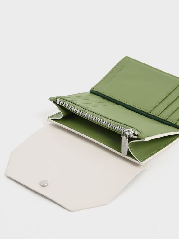 Reversible Front Flap Card Holder, Cream