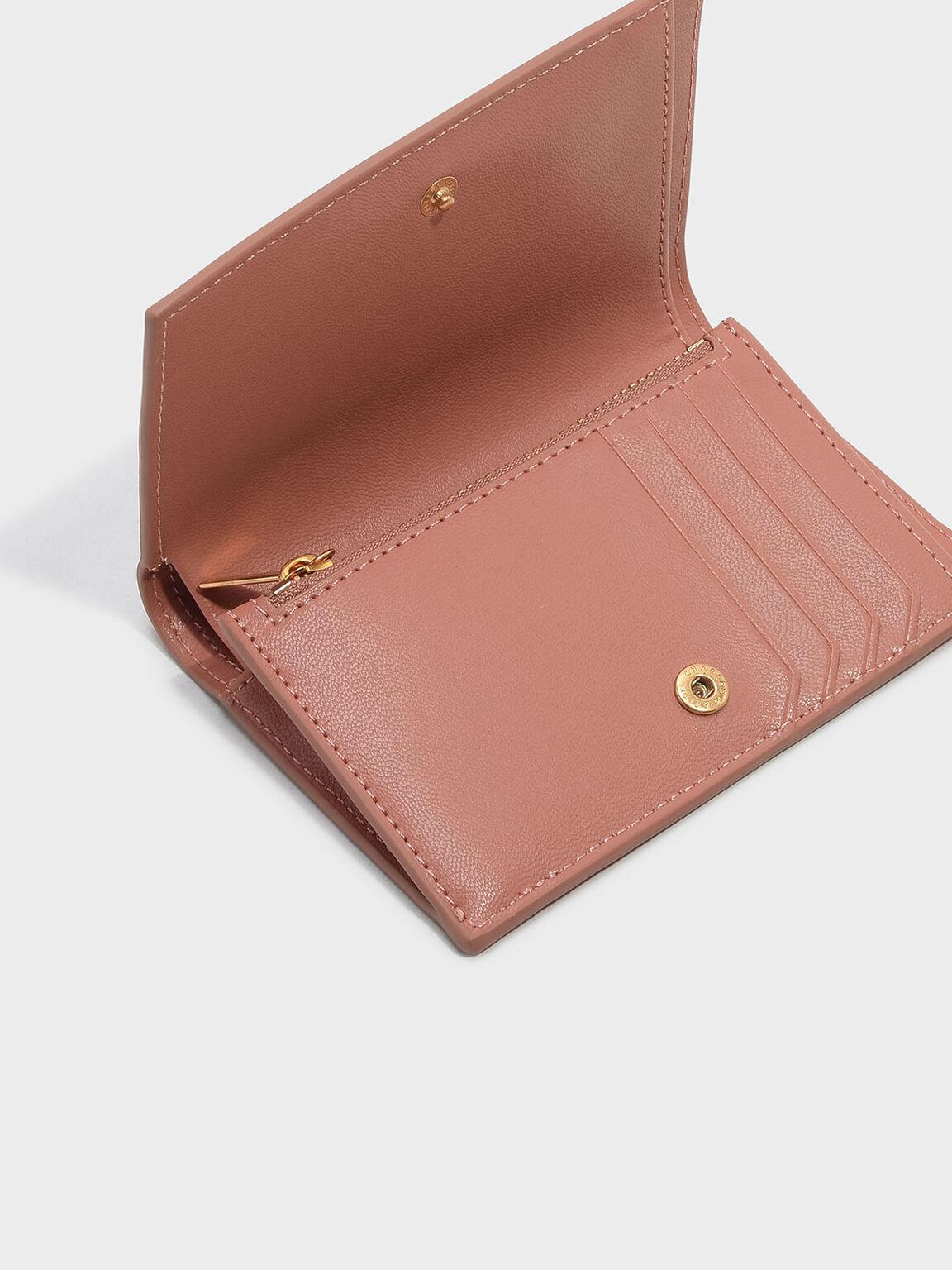 Snap Button Wallet, Blush, hi-res