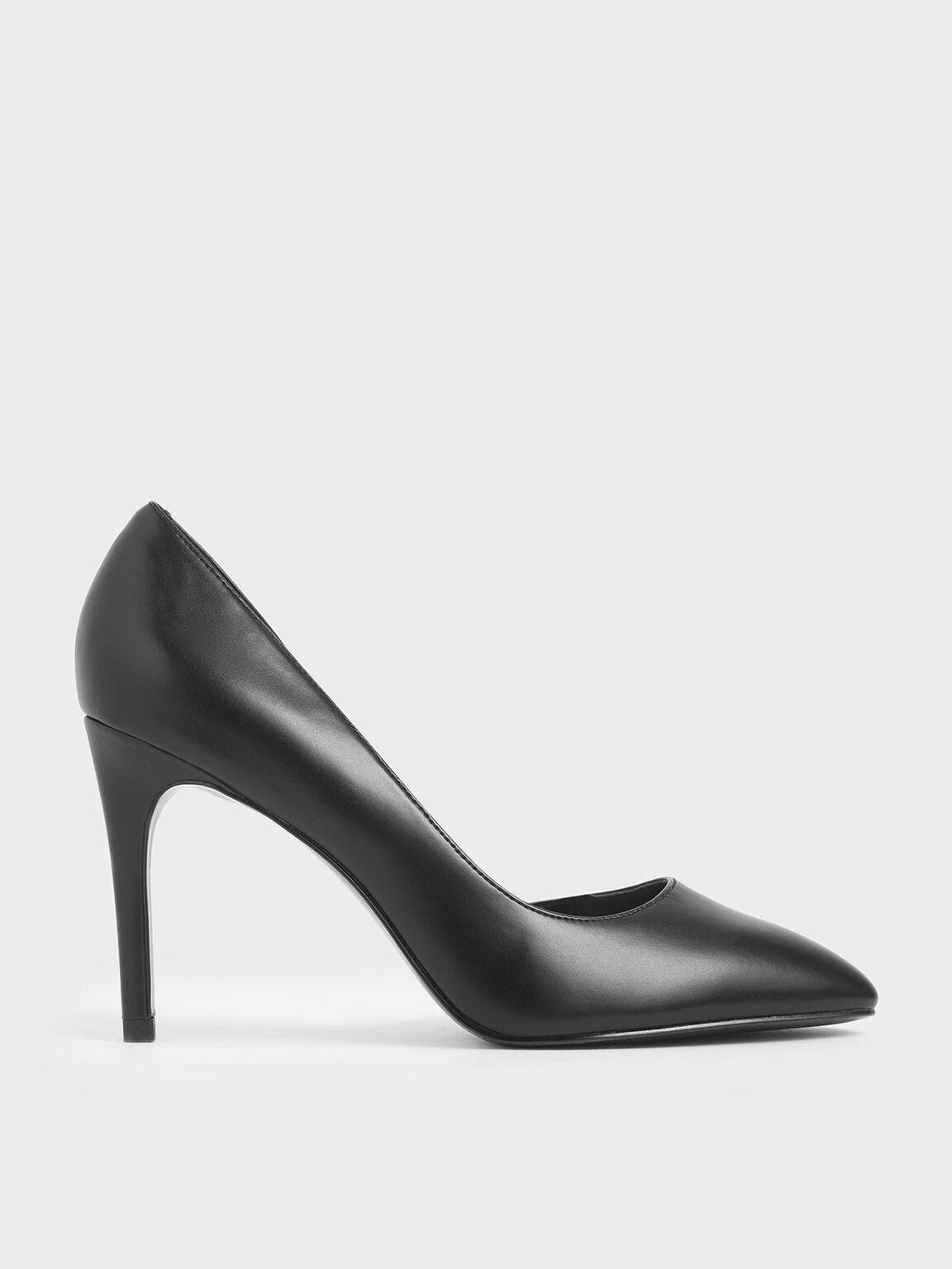 D'Orsay Stiletto Pumps, Black, hi-res