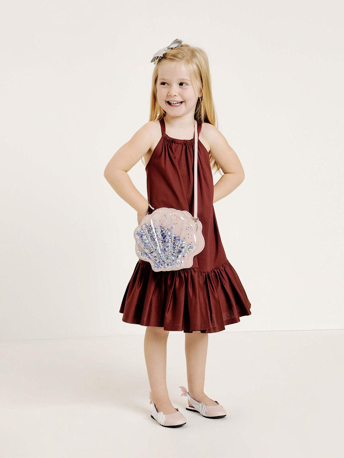 Girls' Seashell Slingback Shoes, Pink, hi-res