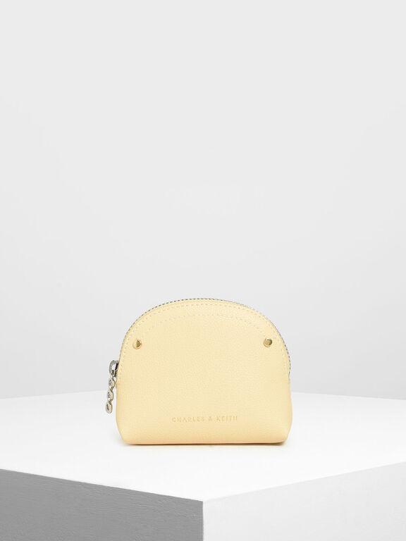 Semi Circle Mini Pouch, Yellow