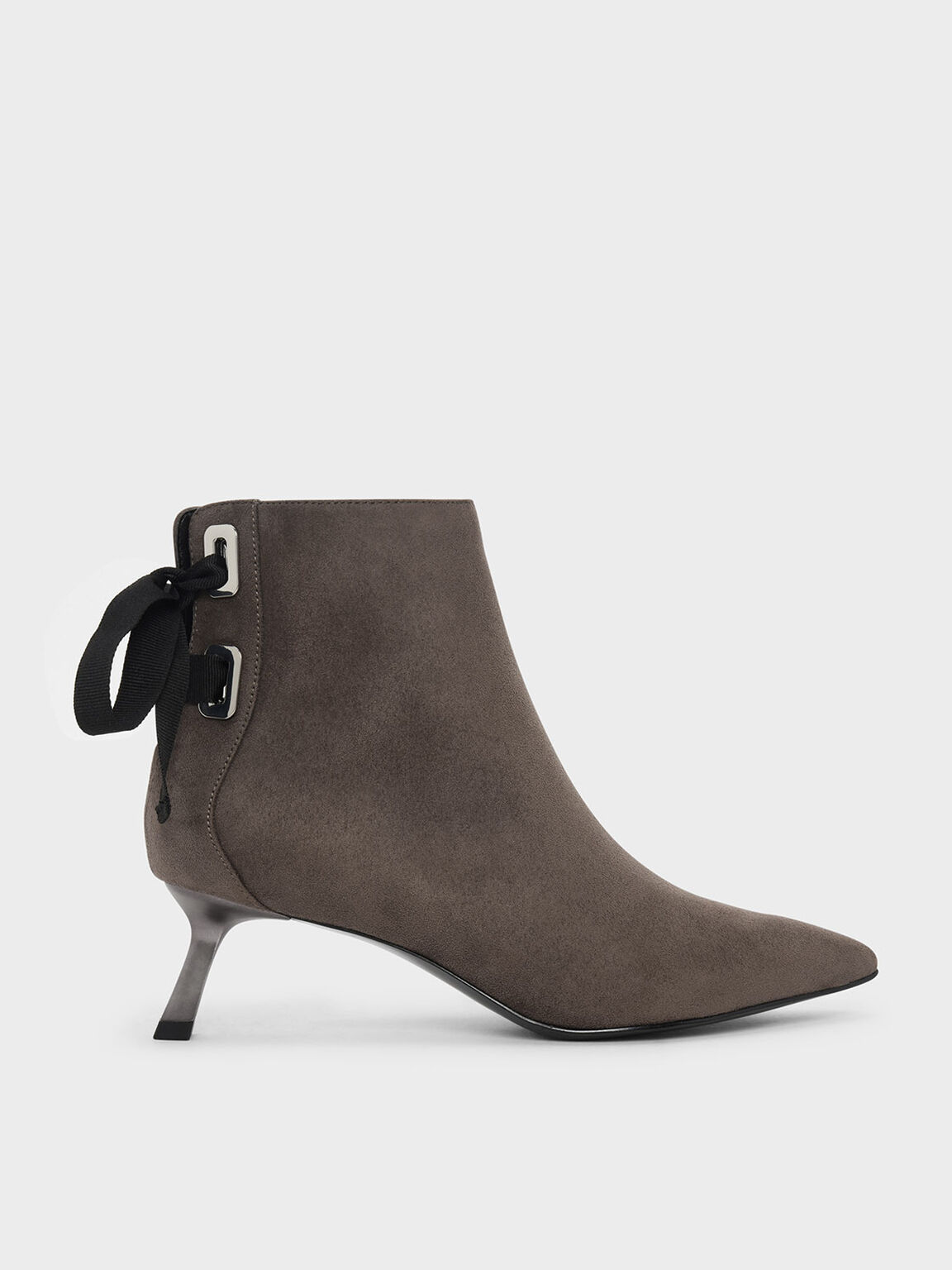 Slant Heel Ankle Boots, Taupe, hi-res
