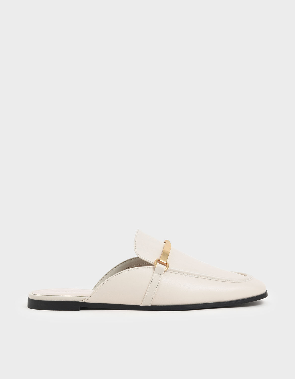 Chalk Metal Accent Slip-On Loafers
