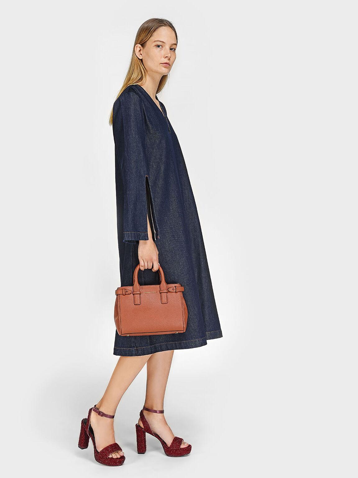 Basic Top Handle Bag, Clay, hi-res