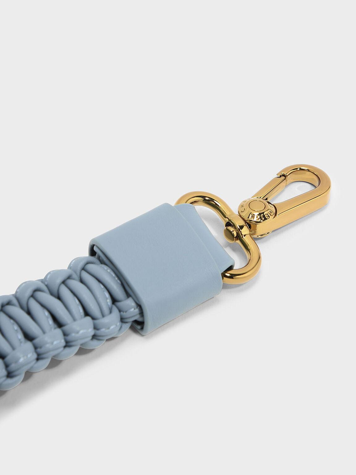 Knotted Weave Bag Strap, Steel Blue, hi-res