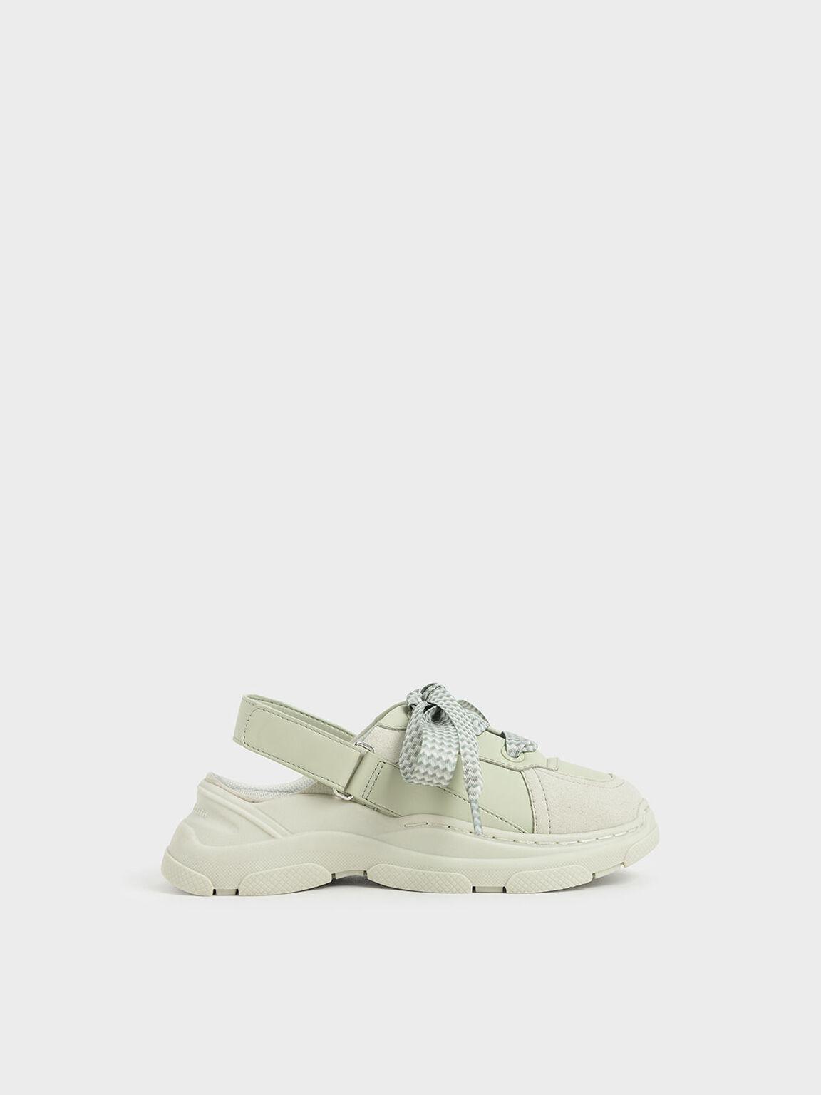Girls' Slingback Sneakers, Mint Green, hi-res