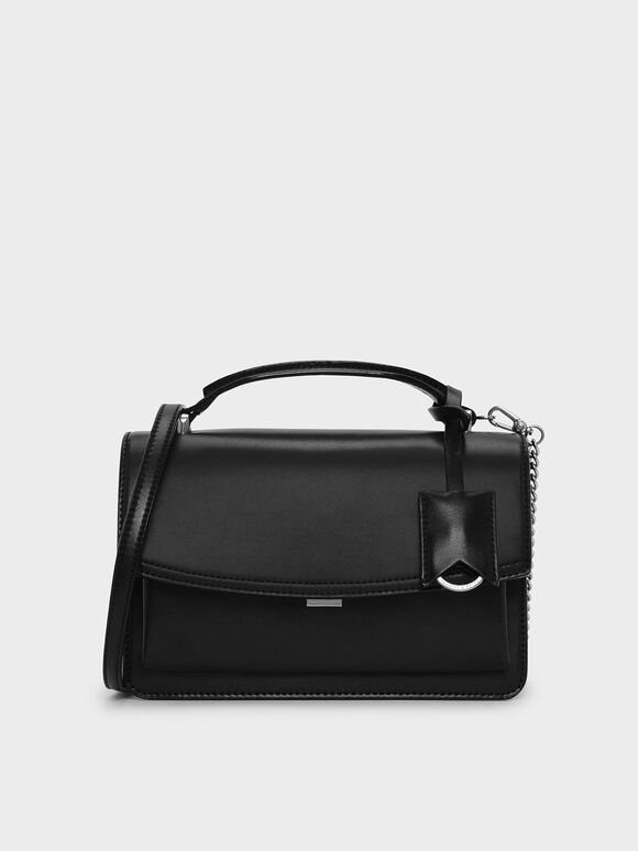 Classic Satchel Bag, Black, hi-res