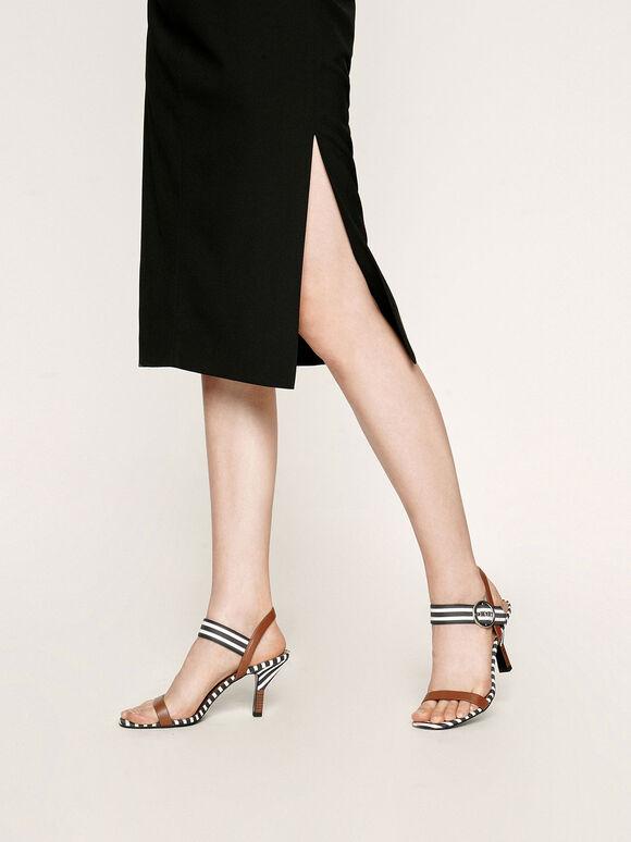 一字高跟涼鞋, 深藍色, hi-res