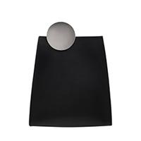 Chrome Detail Leather Crossbody Bag
