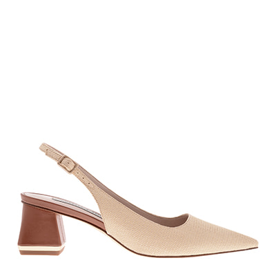 RAFFIA METALLIC ACCENT SLINGBACK PUMPS
