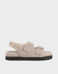Recycled PET - Furry Platform Sandals