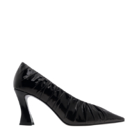 PATENT RUCHED V-CUT PUMPS