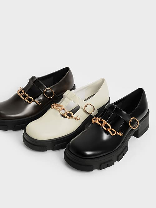 Chain Link T-Bar Mary Janes