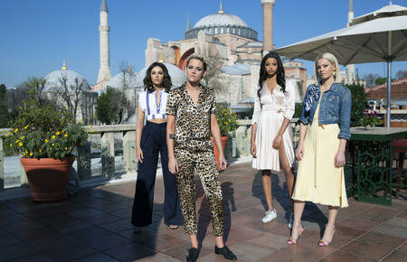 Naomi Scott, Kristen Stewart, Ella Balinska and Elizabeth Banks star in the upcoming Charlie's Angels Reboot