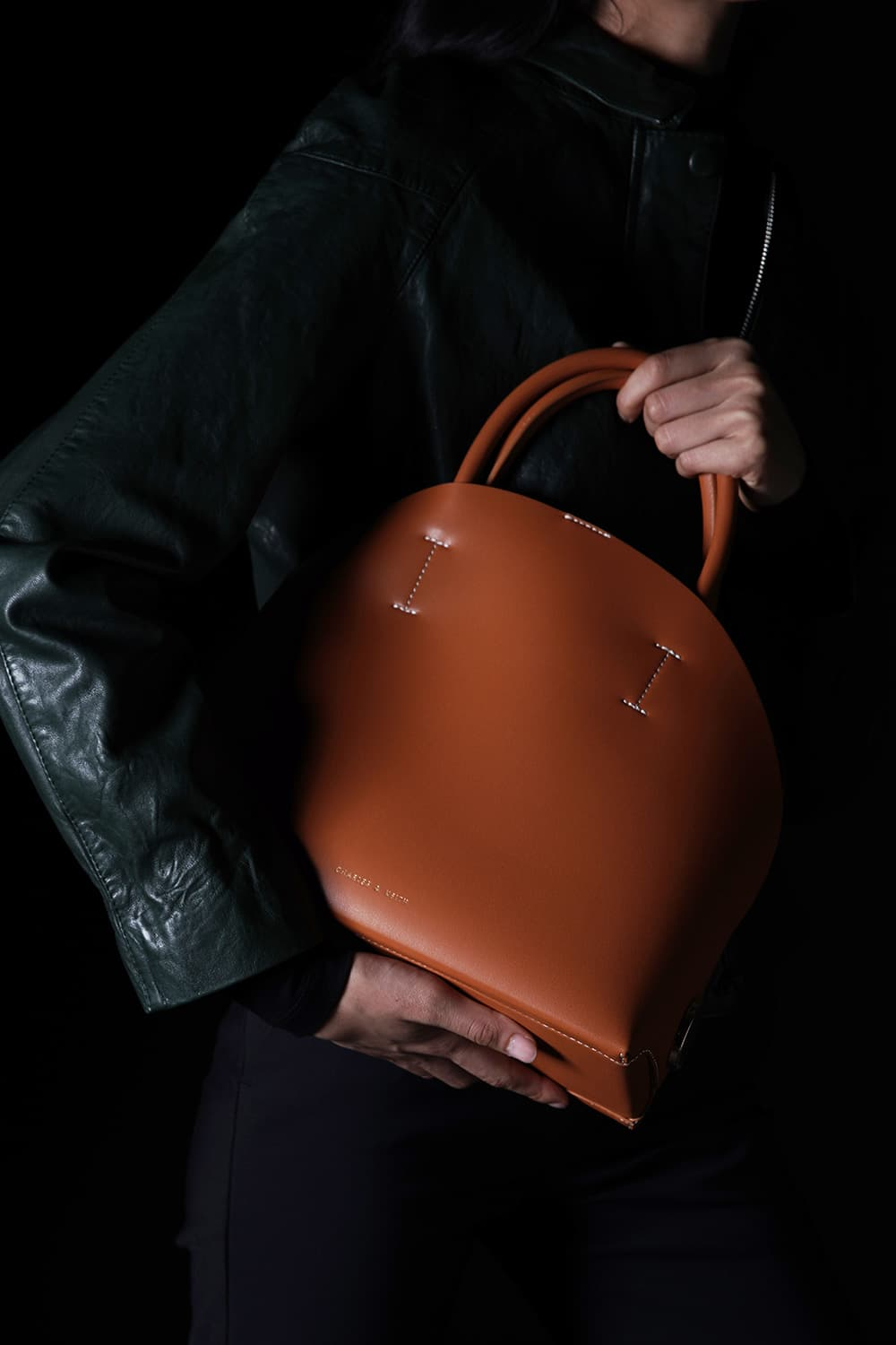 Women's large dome bag in tan - CHARLES & KEITH