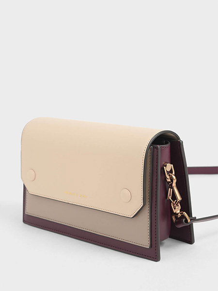 Two-Tone Mini Clutch Bag