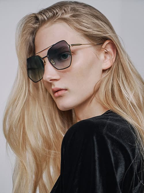 Tinted Butterfly Sunglasses, Black