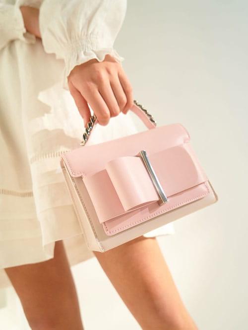 蝴蝶結手提包
