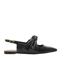 KNOTTED MARY JANE STRAP SLINGBACK FLATS