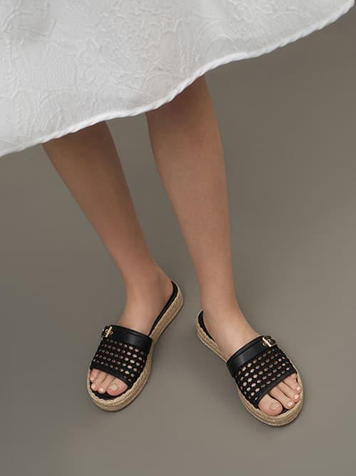 Buckle Strap Espadrille Sandals