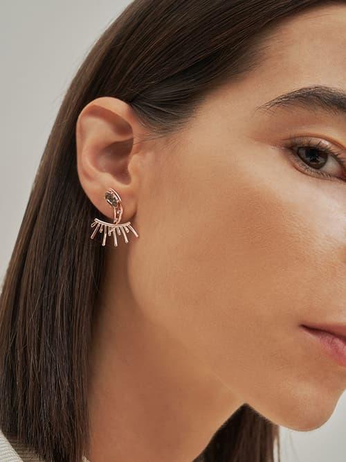 Swarovski® Crystal Stud Earrings, Rose Gold