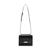 Metallic Push-Lock Crossbody Bag