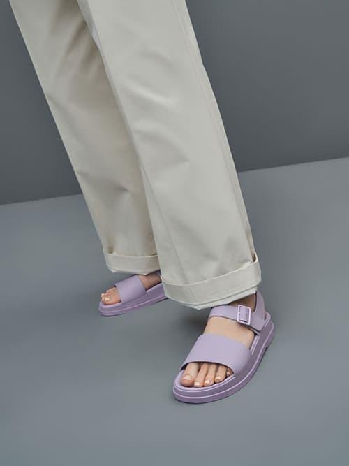 Buckle Strap Flatform Sandals