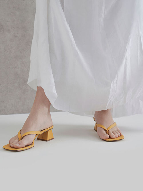 Thong Heeled Sandals